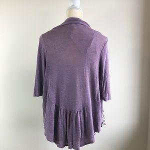Maurice's 3/4th Length Purple Cardigan